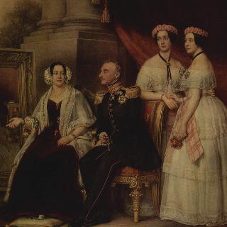 조제프 폰 작센 알텐부르크 공작의 가족 초상