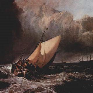 폭풍 속의 네덜란드 배