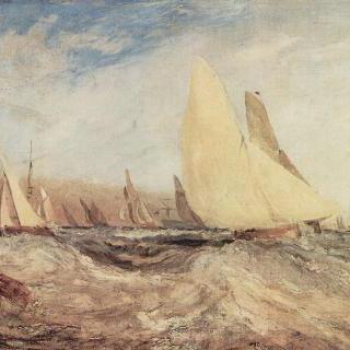 이스트 카우스 성, J. 내쉬의 거처, 바람부는 쪽으로 항해하는 레이스 요트들