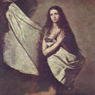 감옥에 갇힌 성 아그네스와 그녀의 몸을 천으로 덮어주는 천사