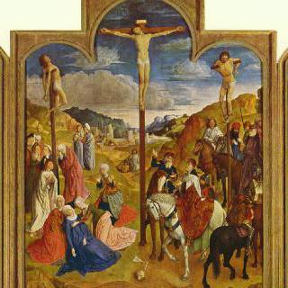 십자가에 못 박힌 그리스도를 그린 세 폭 제단화