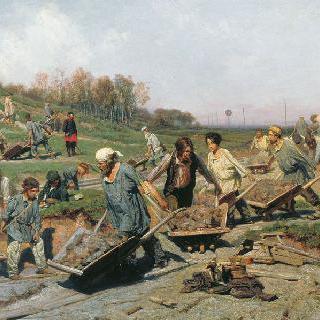 철도 복구작업