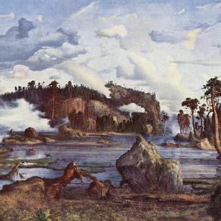 숲속의 호수