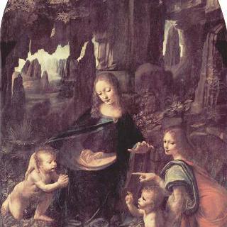 암굴의 성모 : 마리아와 아기 그리스도, 아기 모습을 한 세례 요한과 천사