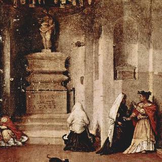 성 루치아 제단화, 프레델라 : 기도하는 성 루치아 및 성 루치아의 작별