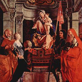 왕좌에 앉아 있는 성모, 성베드로, 볼세나의 성크리스티나, 성리베랄레와 성히에로니무스