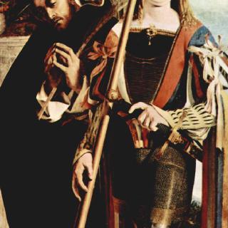 레카나티의 다폭제단화, 오른쪽 날개 : 순교자 성 베드로와 성 비토