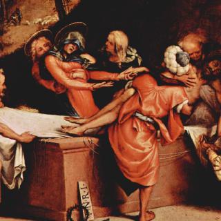 베르가모의 산 바르톨로메오 성당의 다폭제단화, 프레델라 : 그리스도의 매장
