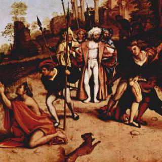 베르가모의 산 바르톨로메오 성당의 다폭제단화, 프레델라 : 성 스테파노의 순교
