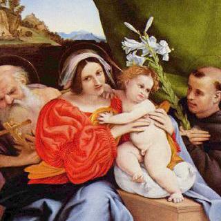 성 히에로니무스와 파도바의 성 안토니우스와 함께 있는 성모