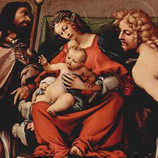 성 로코와 성 세바스찬과 함께 있는 성모