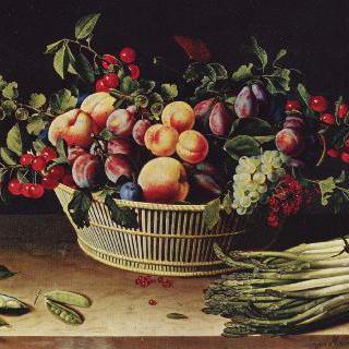 포도송이, 사과와 멜론