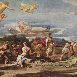 신화의 한 장면 : 베르툼누스와 포모나