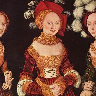 작센 공작의 딸 쥐빌레, 에밀라, 지도니아 폰 작센의 초상