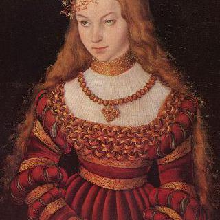 신부 차림을 한 선제후 공자비 지뷜레 폰 클레베의 초상