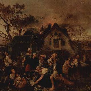 마을의 화재 (큰 불)