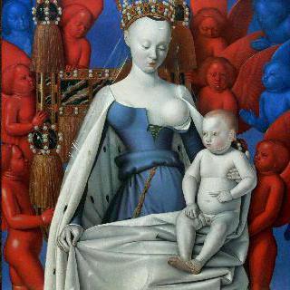 마리아와 아기예수 (믈랭의 두폭화의 오른쪽 패널)