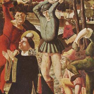 야고보와 스테판 제단화, 오른쪽 안쪽 날개, 아래쪽 그림 : 성 스테판의 돌팔매 처형