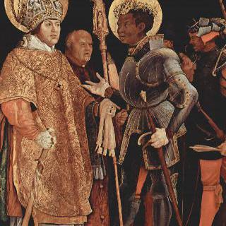 성 에라스무스를 맞이하는 성 마우리티우스