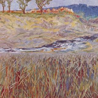 운슈트루트 강변의 풍경