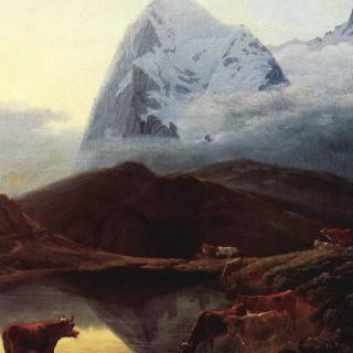 벵게른알프에서 바라본 거대한 아이거 산