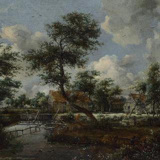 물레방아들이 있는 마을