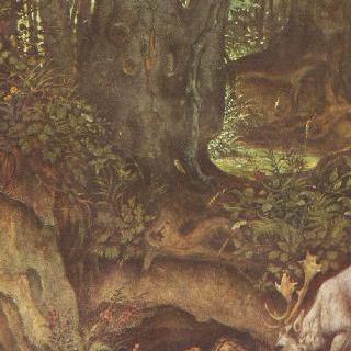 사슴에게 물을 먹이는 물의 정령들