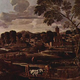 포코스의 무덤이 있는 풍경