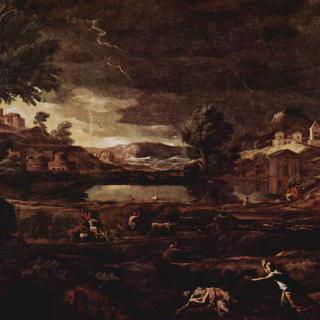 피라모스와 티스베가 있는 풍경