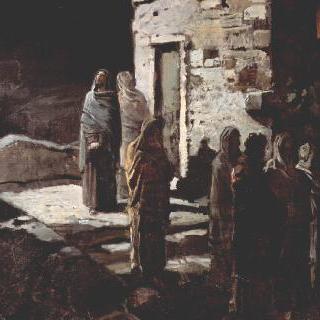 제자들과 함께 겟세마네 동산에 들어서는 그리스도