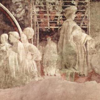 구약성서 창세기를 그린 프레스코화 연작 : 노아의 감사제물, 술 취한 노아의 모욕