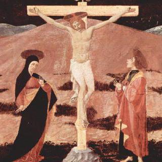 십자가에 못 박힌 그리스도, 마리아, 성 세례 요한, 복음서저자 성 요한, 성 프란체스코