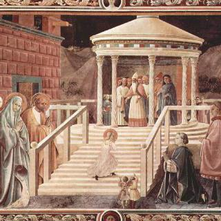 프라토 대성당의 프레스코화 : 성전으로 가는 마리아