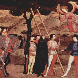 후회하는 여인이 처형을 받으며 청원기도를 올릴 때 하늘에서 나타난 천사