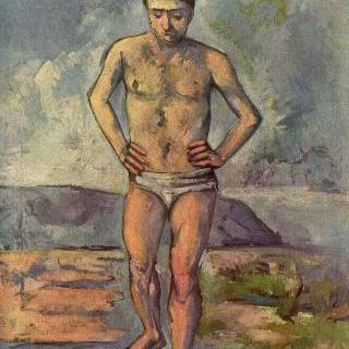 목욕하는 남자