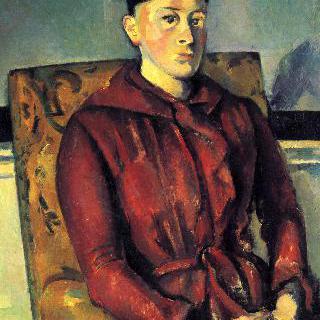 노란 등받이의자에 앉은 세잔 부인의 초상