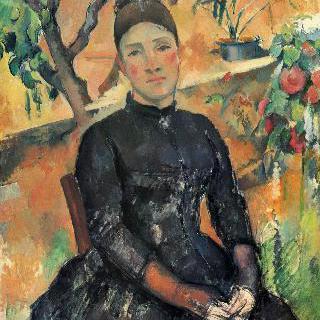 온실에 있는 세잔 부인의 초상