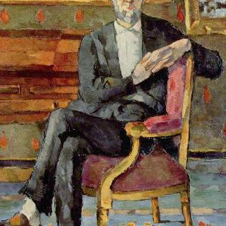 앉아 있는 빅토르 쇼케의 초상