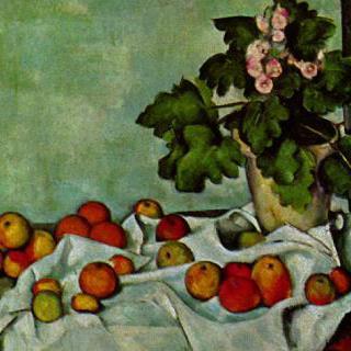 정물, 제라늄과 과일들