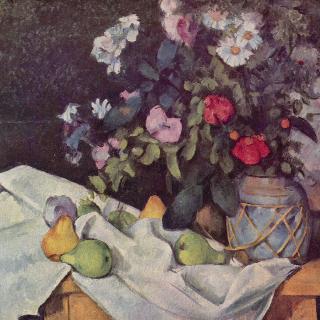 꽃과 과일이 있는 정물