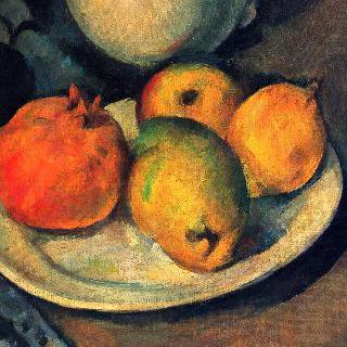 석류와 배가 있는 정물