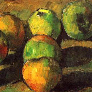 사과 일곱 개가 있는 정물