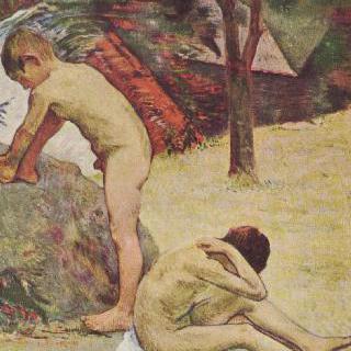 목욕하는 브르타뉴의 소년들