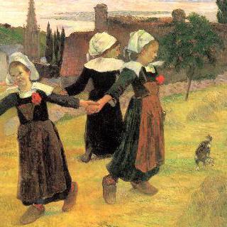 브르타뉴 소녀들의 원무