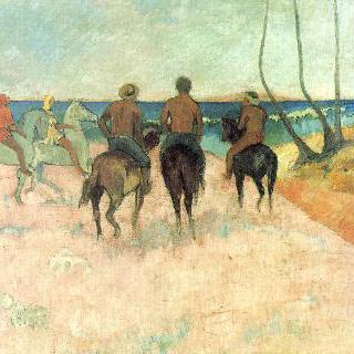 해변의 말 타는 사람들