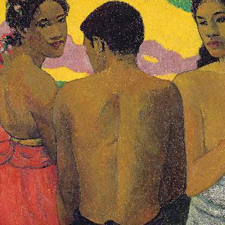 세 명의 타히티 사람들, 또는 대화