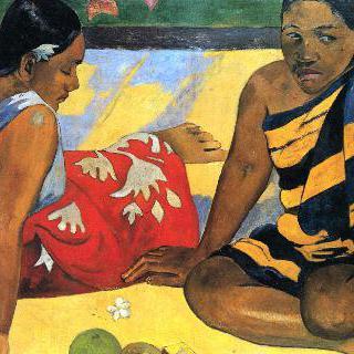 타히티의 두 여인 (뭐 새로운 소식 있니)