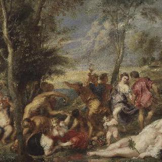 안드로스의 바쿠스제 (티치아노의 그림 모작)