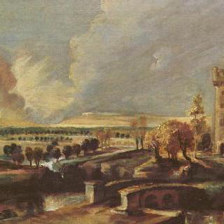 스테인 성의 탑이 있는 풍경