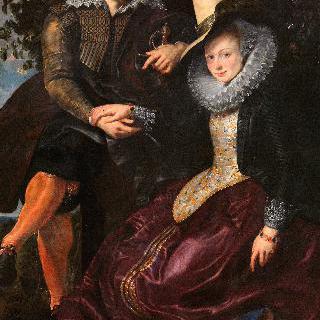 인동덩굴 그늘에서 부인 이사벨라 브란트와 함께 있는 화가의 자화상